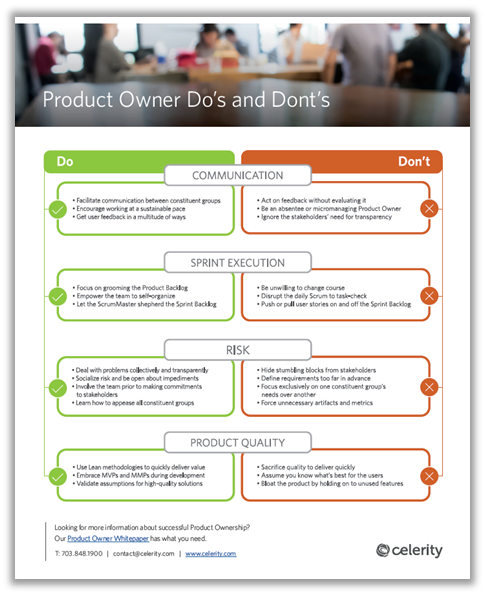 Product Owner Do's and Don'ts